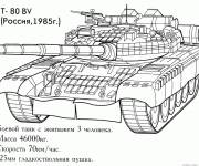 Coloring pages Russian Tank