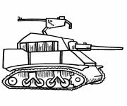 Free coloring and drawings Simple design tank Coloring page