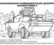 Coloring pages Soviet tank