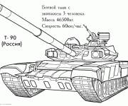 Coloring pages Stylized military tank