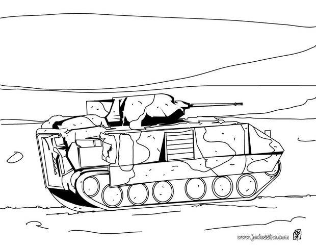 Free coloring and drawings Tank Coloring page