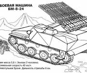 Coloring pages Tank a mission