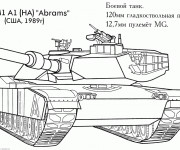 Coloring pages Tank Abrams