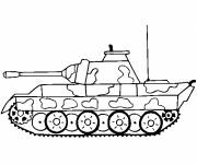 Coloring pages Tank front view