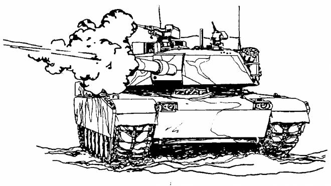 Free coloring and drawings Tank launches the bomb Coloring page