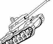Coloring pages Tank of combat simple