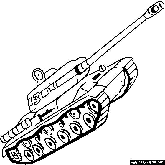 Free coloring and drawings Tank of combat simple Coloring page