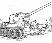 Free coloring and drawings Tank online Coloring page