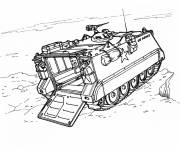 Coloring pages War chariot on a cliff