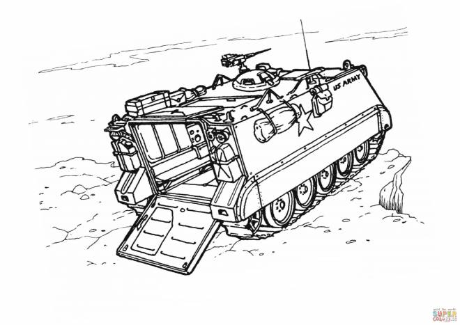 Free coloring and drawings War chariot on a cliff Coloring page