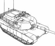 Free coloring and drawings War tank online Coloring page