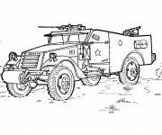 Free coloring and drawings War vehicle Coloring page