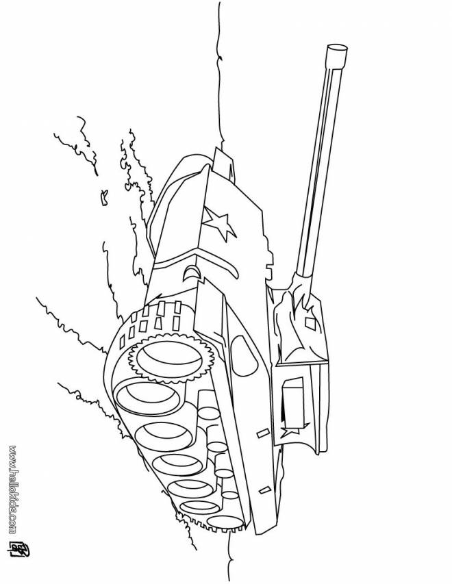 Free coloring and drawings War vehicle tank Coloring page