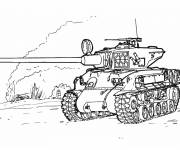 Coloring pages World war tank
