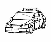 Free coloring and drawings Car Taxi Coloring page