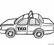 Free coloring and drawings Color Taxi Coloring page