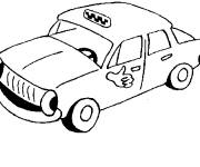 Free coloring and drawings Custom taxi Coloring page