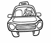 Free coloring and drawings Easy taxi Coloring page