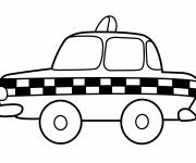 Coloring pages English taxi black and white
