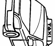 Free coloring and drawings Public Transport Auto Taxi Coloring page
