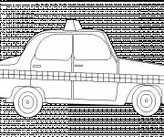 Free coloring and drawings Simplified British taxi Coloring page
