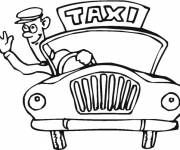 Coloring pages Taxi driver greets you