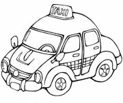 Free coloring and drawings Taxi in London Coloring page