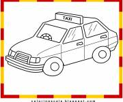 Free coloring and drawings Taxi kid Coloring page
