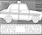 Free coloring and drawings Taxi New York Coloring page