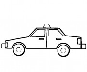 Free coloring and drawings Taxi simple Coloring page