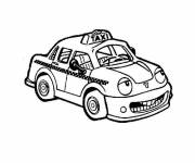 Free coloring and drawings Taxi with a face Coloring page