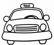 Free coloring and drawings Yellow Taxi Coloring page