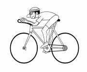 Coloring pages A cyclist in the race