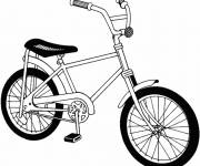 Coloring pages A little bike online