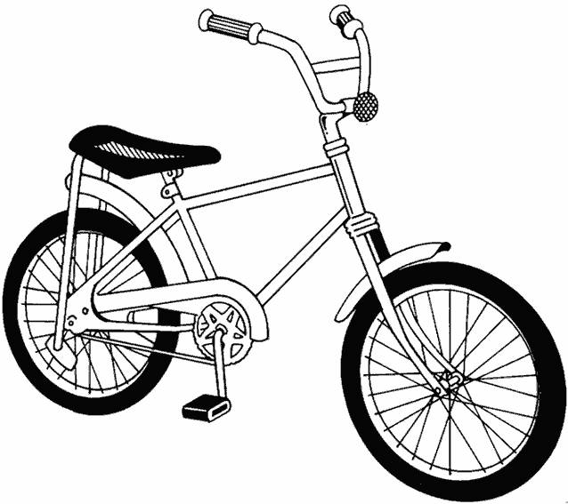 Free coloring and drawings A little bike online Coloring page