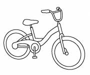 Free coloring and drawings A mountain bike Coloring page