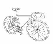 Coloring pages A racing bike