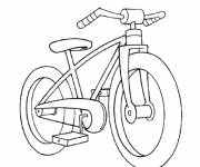 Coloring pages A simple bicycle