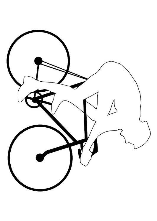 Free coloring and drawings Bike to complete Coloring page