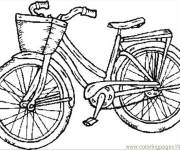Coloring pages Black and white bicycle