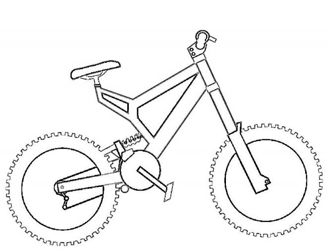 Free coloring and drawings BMC easy bike Coloring page