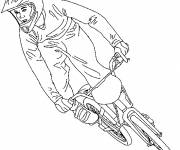 Coloring pages BMX racing bike
