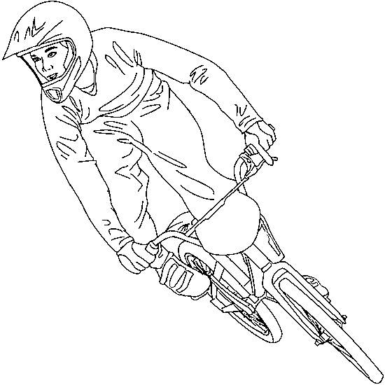 Free coloring and drawings BMX racing bike Coloring page
