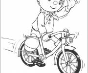 Free coloring and drawings Cartoon greet cyclist Coloring page