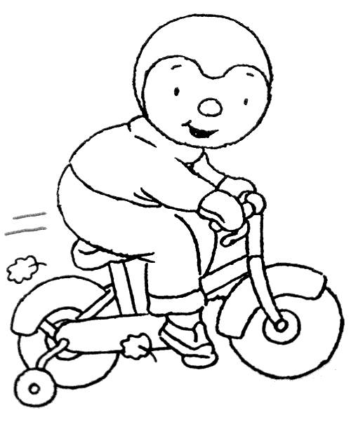 Free coloring and drawings Charley's bike drawing Coloring page