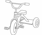Free coloring and drawings Child bicycle Coloring page