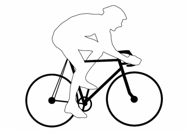 Free coloring and drawings City bike Coloring page