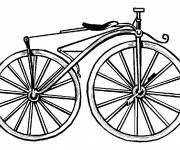 Free coloring and drawings Classic Bike Coloring page