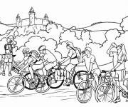 Free coloring and drawings Cycling and nature Coloring page