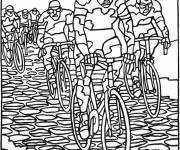 Free coloring and drawings Cycling race Coloring page